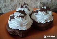 Csokis-banános muffin banános krémmel