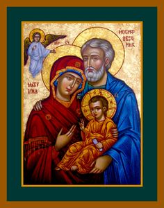 Holy Family Religious Images, Religious Art, Pictures Of Christ, Russian Icons, Madonna And Child, Catholic Saints, Guardian Angels, Holy Family, Orthodox Icons