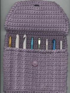 crochet hook caddy.  You mean just throwing them in with my yarn stash looks tacky? ;)