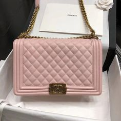 57779627a73a Chanel New Medium Original Caviar Leather Le Boy Flap Bag 28cm Pink  #designerbagsforless Designer Bags