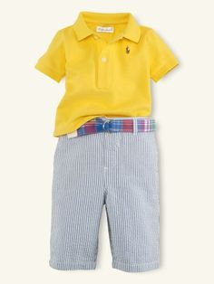 RL Polo and Seersucker Short Set - ralphlauren.com -- Abby, I know we will see baby boy in tons of these!! TOO CUTE!!