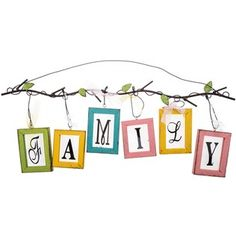 Pastel Hanging Family Letters on Branch