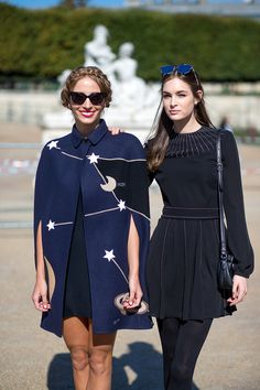 Harley Viera Newton & Laure Love in Valentino | Paris Fashion Week #StreetStyle Spring 2016