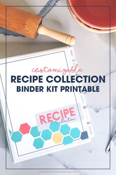 The Printable Recipe Binder Kit will take your recipes from messy to organized in just a few easy steps and help you plan weekly meals and grocery lists. Making A Cookbook, Homemade Cookbook, Cookbook Recipes, Gourmet Recipes, Cookbook Ideas, Jelly Recipes, Cookbook Display, Cookbook Storage, Cookbook Design