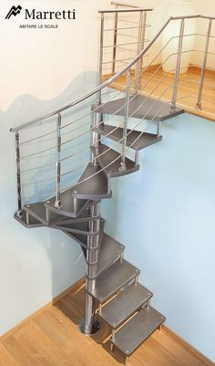 42 Inspiring Loft Stair Design Ideas For Space Saving - Loft conversion stairs are an integral part of any conversion project so in this article we'll look at some of the specific building regulations regar. Loft Staircase, Attic Stairs, House Stairs, Spiral Staircase, Small Staircase, Attic Loft, Staircase Ideas, Spiral Stairs Design, Staircase Design