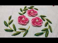 Basic Embroidery Stitches, Embroidery Motifs, Flower Embroidery Designs, Lazy Daisy Stitch, Brazilian Embroidery, Embroidered Clothes, Hand Stitching, Elsa, Make It Yourself