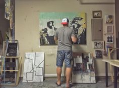 Working on a new commission piece. #art #artstudio