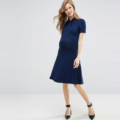 The Ten Best Wear To Work Maternity Dresses//#9 ASOS Maternity Skater Dress with Twist Neck