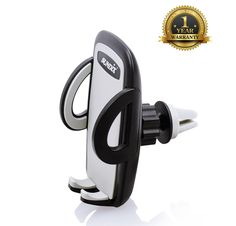 Sundix 4010833 Air Vent Car Mount Holder Cradle for 52mm to 95mm Smartphones - Black. Design suitable for most tables 52mm to 95mm or media devices. Quick and easy installation on your dash or air outlet. Provides hands-free, heads-up mounting of your tablet for easy viewing. Padded and cushioned side grip arm holds products securely. Allows multi-axis adjustment for infinite viewing angles(360 rotation).