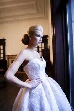 Melissa Gentile Fall 2015 couture bridal collection style # Toulouse. lace wedding dress. French lace bridal gown. couture bridal gown. short lace wedding dress. lace cocktail dress.   www.melissagentile.com