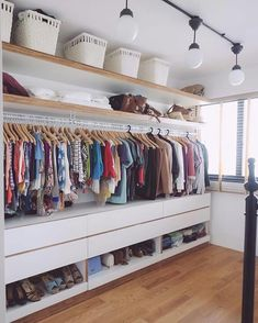 Walk In Closet Ideas - Searching for some fresh ideas to redesign your closet? See our gallery of leading deluxe walk in closet layout ideas and images. Bedroom Closet Design, Closet Designs, Bedroom Storage, Small Bedroom Designs, Closet Storage, Wardrobe Room, Open Wardrobe, Wardrobe Furniture, Sliding Wardrobe