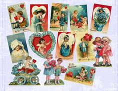 Valentine Victorian Cards Gift Tags Victorian by BrendaAlanegifts, $5.00
