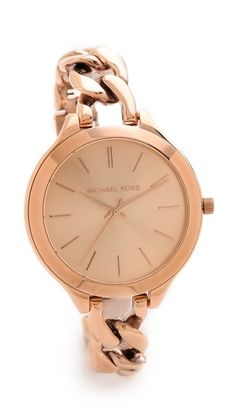 slim runway twist watch / michael kors