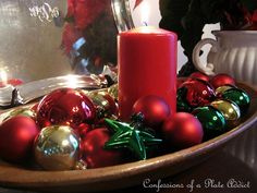 Four Ways to Decorate a Dough Bowl for Christmas Christmas Bowl, After Christmas, All Things Christmas, Christmas Crafts, Xmas, Christmas Ornaments, Christmas Trees, Coastal Christmas, Christmas Candles