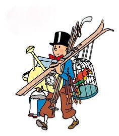 Hergé's Tintin. Flea-markets can be dangerous!