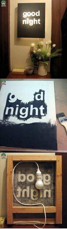 Awesome idea for a night light