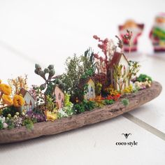 Image may contain: food Fairy Crafts, Garden Crafts, Garden Projects, Diy And Crafts, Miniature Crafts, Miniature Fairy Gardens, Video Game Decor, Mushroom Decor, Matchbox Art
