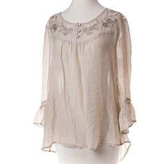 Crochet Woven Shirt - Cream http://shop.crackerbarrel.com/Crochet-Woven-Shirt-Cream/dp/B00MQZJ7HO