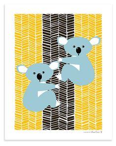"""One Kings Lane - Sweet Picks - Koalas 8"""" x 10"""" Print"""