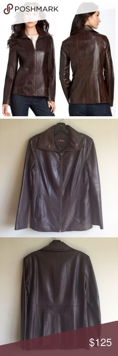 Selling this $695 Cole Haan 4 'Updated' Leather Scuba Jacket on Poshmark! My username is: deh_sale. #shopmycloset #poshmark #fashion #shopping #style #forsale #Cole Haan #Jackets & Blazers