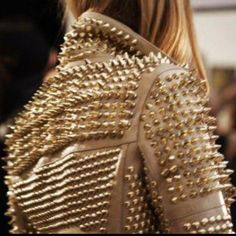 Spiked jacket. #zappos