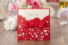 Elegant Pearl Wedding Invitation Red Elegant Handmade Laser Cut Chinese Wedding Invitation Card Printable Online with $0.93/Piece on Custom_wedding's Store | DHgate.com
