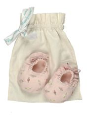 Baby Shoes With Hand Embroidered Roses from Poeme & Poesie on Taigan