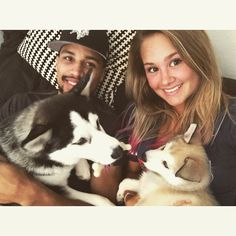 Tampa Bay Lightning: JT Brown, his wife, Lexi, and their two dogs