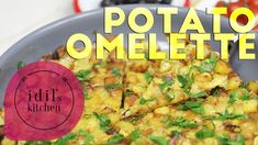 Potato Omelette Recipe | FAST RECIPES - YouTube Vegetarian Food, Healthy Food, Healthy Recipes, Turkish Recipes, Ethnic Recipes, Omelette Recipe, Fast Recipes, Chili, Curry