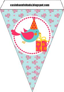 Charming Child: Party Kit Birdies For Free Print
