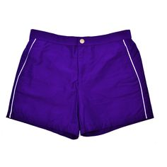 T. Christopher Men's Swim Trunks with Piping - Purple