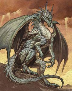 Sharmath at the end of the book (Realms) grey dragon Fantasy Dragon, Dragon Art, Magical Creatures, Fantasy Creatures, Cool Dragons, Dragon's Lair, Dragon Pictures, Mythological Creatures, Fantasy Artwork