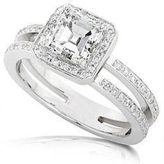 If anyone asks...this is the one. Love the balance of the asscher cut and double-band