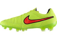 Nike Tiempo Legend V Firm Ground Soccer Cleats - Volt and Hyper Punch | SoccerMaster.com