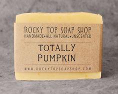 Pumpkin Soap - All Natural Soap, Handmade Soap, Cold Process Soap, Vegan Soap, Unscented Soap, Pumpkin Soap