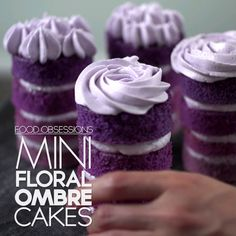 Mini Floral Ombre Cakes