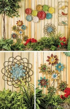 Fence Art- if I had a fence in the backyard, I'd definitely want to do this!