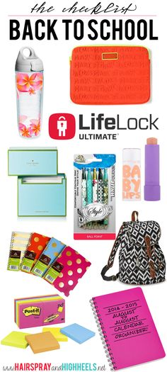 Back To School Checklist #LifeLockUltimatePlus #ad
