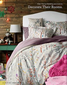 Cozy Chalk Print Duvet Cover from Lands' End. #wishpinwin  No Price ?
