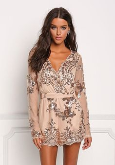 Gold Tulle Sequin Su - October 28 2018 at White Jumpsuits And Rompers, Jumpsuits For Women, Stylish Outfits, Fashion Outfits, Stylish Clothes, Work Outfits, Trendy Fashion, Cocktail Jumpsuit, Integers