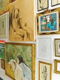 Obras de arte na parede