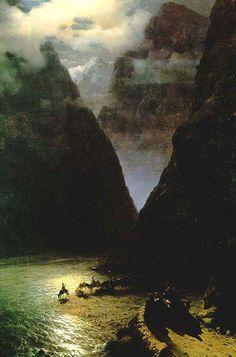 The Daryal Canyon: 1862  Ivan Aivazovsky