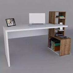 escritorio melamina+ biblioteca -  moderno