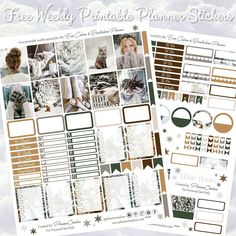 Free Winter Printable Planner Spread For The Erin Condren
