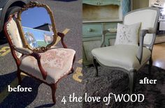 4 the love of wood: PAINTING UPHOLSTERY - french chair