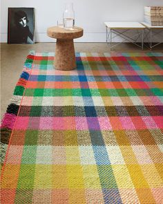 Light up your living room with the Multitone Rug by Hella Jongerius and Maharam, a modern handwoven wool area rug with a checkerboard pattern and rich texture. Floor Rugs, Decor, Hella Jongerius, Rugs, Rug Design, Home Remodeling, Rugs On Carpet, Contemporary Rug, Home Decor
