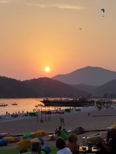 Night is coming to Oludeniz Beach SUNSET