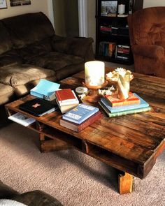 Pallet Coffee Table with X-Shaped Base - 150+ Wonderful Pallet Furniture Ideas | 101 Pallet Ideas - Part 6