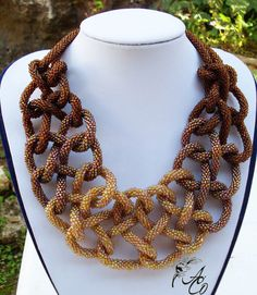 Intricate bead crochet necklace
