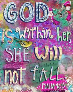 Art Print. God Is Within Her by studiopetite on Etsy